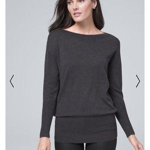 WHBM Gray Crewneck Sweater